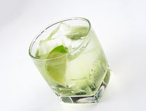 Vodka lime cocktail Royalty Free Stock Photo