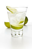 Vodka with lime and ice Royalty Free Stock Photography