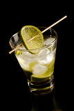 Vodka with lime and ice Royalty Free Stock Photo