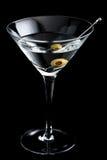 Vodka martin cocktails on black background Royalty Free Stock Photo