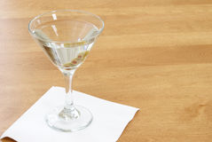 Vodka Martini. A vodka martini with three fresh olives inside Royalty Free Stock Photo