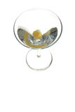 Vodka Martini. Isolated classic vodka martini Royalty Free Stock Image