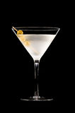 Vodka Martini. In front of a black background Stock Photo