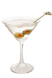 Vodka Martini. With olives isolate don a white background Royalty Free Stock Images