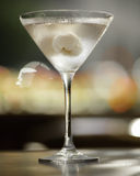 Vodka martini cocktail. Fresh cold Lychee vodka martini on blurred background Stock Photography