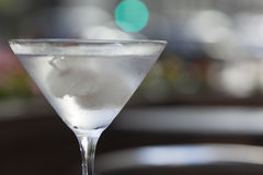 Vodka martini cocktail Stock Images