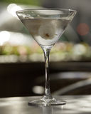 Vodka martini. Fresh cold Lychee vodka martini on blurred background Stock Image