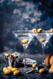 Vodka martini, gin tonic cocktail served in restaurant, pub and bar. Long drink cocktail concept. Dry vodka martini, gin tonic cocktail served in restaurant, pub Stock Images