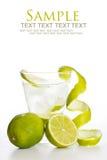 Vodka med limefrukt royaltyfri bild