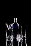 Vodka på spegeln Royaltyfri Foto