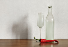 Vodka and Pepper Royalty Free Stock Image