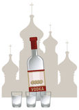 Vodka russa Fotografia Stock