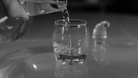 Vodka shot Decanter stock video footage