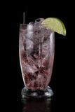 Vodka soda splash cranberry Royalty Free Stock Photo
