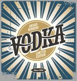 Vodka vintage tin sign. On old scratched background Stock Photography