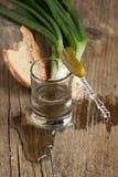 Vodka y bocados Fotografía de archivo libre de regalías