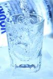 Vodka y hielo Foto de archivo libre de regalías