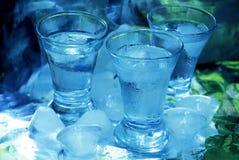 Vodka y hielo Imágenes de archivo libres de regalías