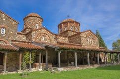 Vodocha kloster - gammal kyrka - Strumica, Makedonien arkivfoto