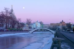 Vodootvodny Canal, Russia, Moscow stock photo