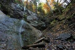 Vodopad de Vysny, dolina de Sokolia, raj de Slovensky, Eslováquia imagem de stock
