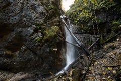 Vodopad ochrancov prirody, Slovensky raj Stock Photography