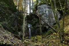 Vodopad v Barikade, Velky Kysel, Slowakije Royalty-vrije Stock Afbeeldingen