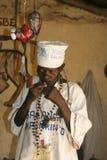 Vodun priest in Benin. Vodun priest prepares for a traditional ritual Royalty Free Stock Photography