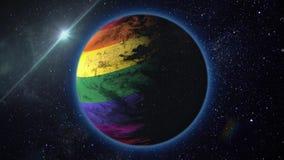 Voe o planeta LGBT ilustração stock
