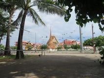 Voed de duiven tegenover de tempel het koninklijke klooster royalty-vrije stock afbeeldingen
