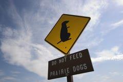 Voed geen Honden Praire Royalty-vrije Stock Afbeelding