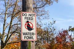 Voed Watervogels geen Teken royalty-vrije stock afbeeldingen