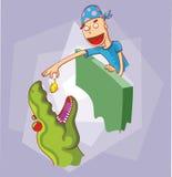 Voedende dinosaurus royalty-vrije illustratie