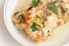 Voedende omelet Royalty-vrije Stock Afbeeldingen