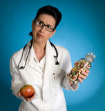 Voeding en Drugs Royalty-vrije Stock Foto
