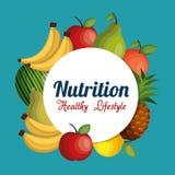 Voedings gezond voedsel geïsoleerd pictogram vector illustratie