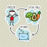 Voedingsinfographics Stock Afbeelding