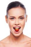 Voedingsmiddelen voor een lichaam en een huid stock afbeeldingen