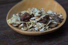 Voedingsvoedsel, graangewassen gezond voedsel Royalty-vrije Stock Foto's