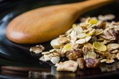Voedingsvoedsel, graangewassen gezond voedsel Stock Foto's