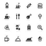 Voedsel & de Pictogrammen van Dranken - minimoreeks Stock Afbeelding