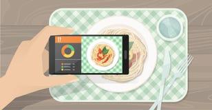 Voedsel app royalty-vrije illustratie