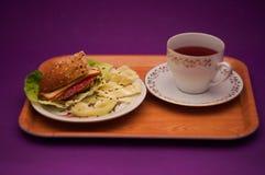Voedsel, Bakkerij, gebakjes, ontbijt, snel voedsel, snack royalty-vrije stock foto's