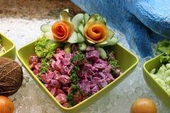 Voedsel-biet salade in de kom Stock Foto