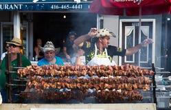 Voedsel bij de Smaak van Danforth-Festival Royalty-vrije Stock Foto