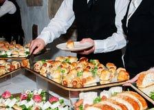 Voedsel bij partij Stock Fotografie
