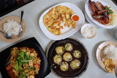 Voedsel bij restaurant stock fotografie