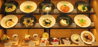 Voedsel bij vertoning in Japan stock fotografie