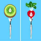 Voedsel dat lagere bloeddruk Stock Afbeeldingen