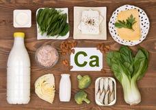 Voedsel die calcium bevatten royalty-vrije stock foto's